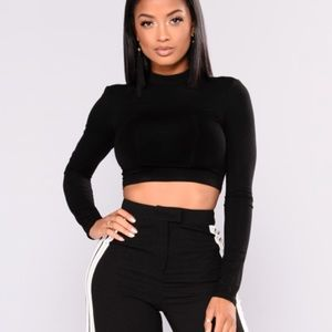 High Neck Long Sleeve Crop Top *NEW*
